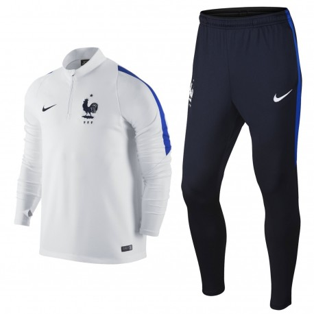 Frankreich Fussball team Tech Trainingsanzug 201617 weiss Nike
