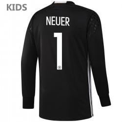 KINDER - Deutschland DFB Neuer 1 Fußball torwart heimtrikot 2016/17 - Adidas