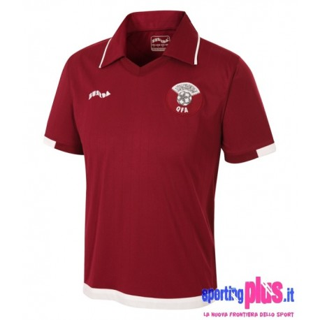 Qatar National Soccer Jersey home 09/10 by Burrda