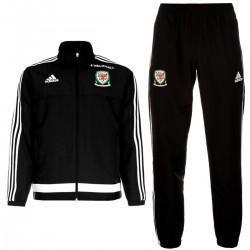 Chandal de presentacion seleccion Gales 2016/17 negro - Adidas