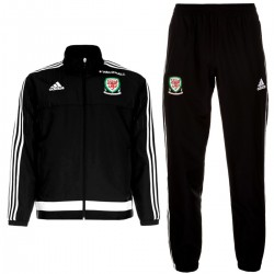 Wales national team black presentation tracksuit 2016/17 - Adidas