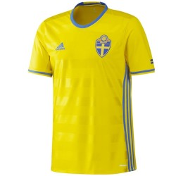 Sweden national team Home football shirt 2016/17 - Adidas
