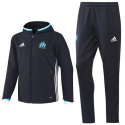Survetement de presentation bleu Olympique Marseille 2016/17 - Adidas
