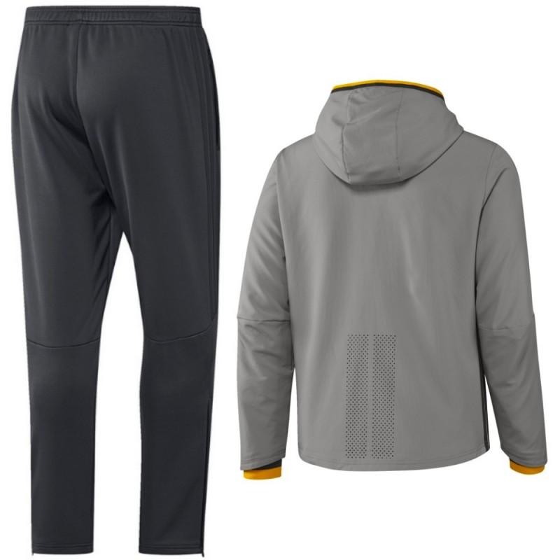 Chandal de presentacion Juventus 201617 gris Adidas