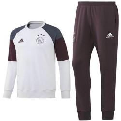 Ajax Amsterdam ensemble d'entrainement 2016/17 blanc - Adidas