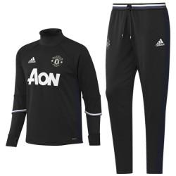 Survetement Tech d'entrainement Manchester United 2016/17 noir - Adidas