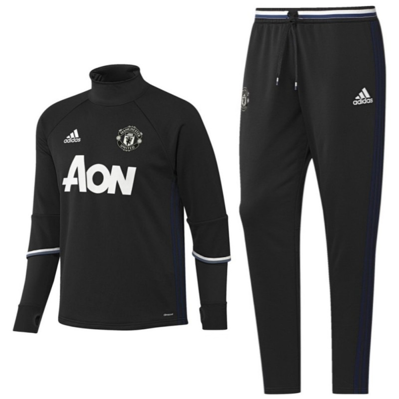 Manchester United tech trainingsanzug 2016/17 schwarz ...