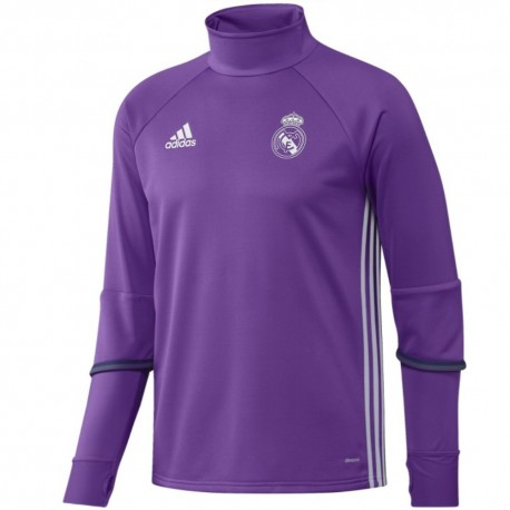 Tech sweat top d'entrainement Real Madrid 201617 Away Adidas