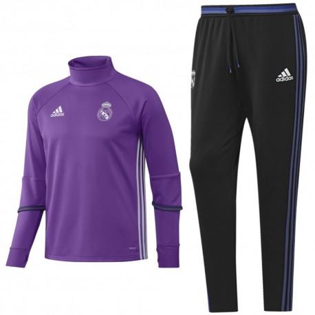 Chandal tecnico entreno Real Madrid 2016 17 violeta - Adidas ... 0186e54a55111