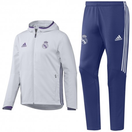Chandal de presentacion Real Madrid 2016 17 blanco - Adidas ... 6b00a32be98ae