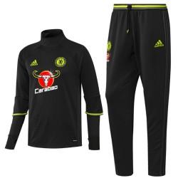 Survetement Tech d'entrainement Chelsea 2016/17 noir - Adidas