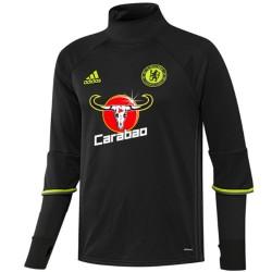 Sweat tech top d'entrainement Chelsea 2016/17 noir - Adidas