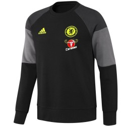Sweat top d'entrainement Chelsea 2016/17 noir - Adidas