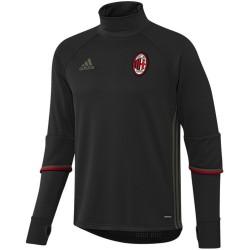 Sweat tech top d'entrainement AC Milan 2016/17 noir - Adidas