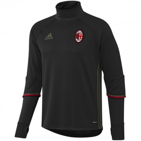 AC Milan black technical training sweat top 2016/17 - Adidas