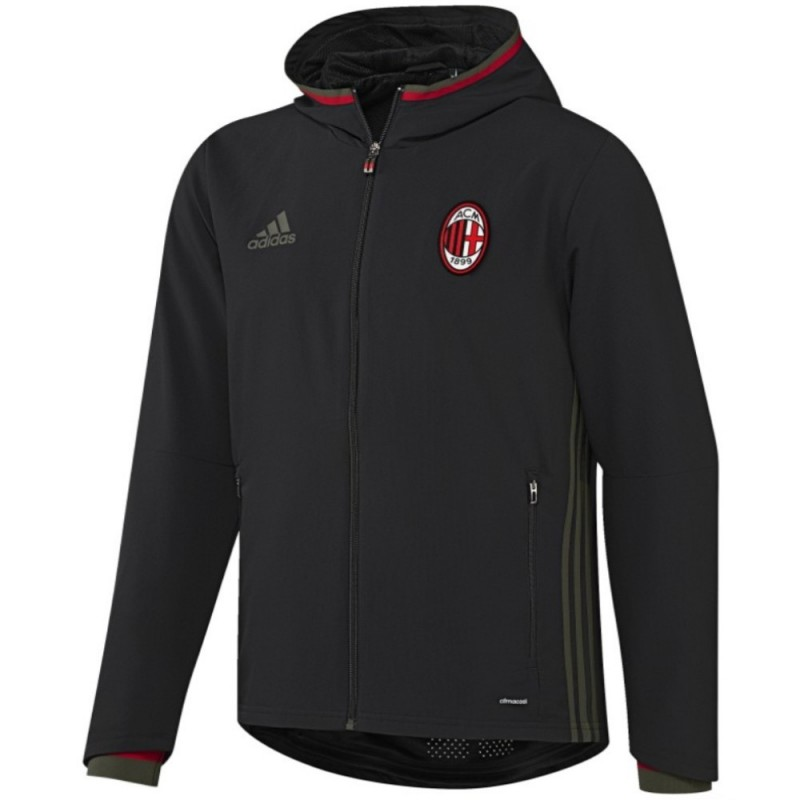 62f5dfad516ae Chandal de presentacion negro AC Milan 2016 17 - Adidas ...