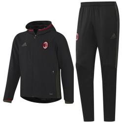 AC Milan black presentation tracksuit 2016/17 - Adidas