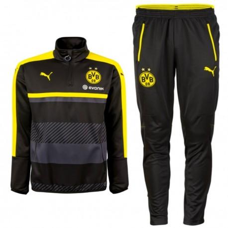 Survetement tech entrainement Borussia Dortmund 201617 noir Puma