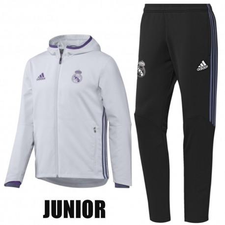 JUNIOR - Survetement de presentation Real Madrid 2016 17 - Adidas ... 4f45d10bfc085