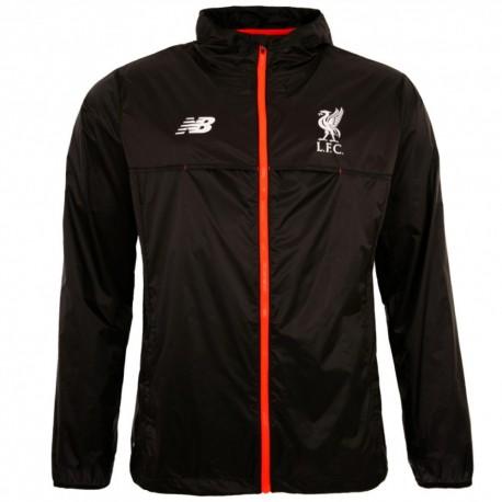Liverpool FC black rain jacket 2016/17 - New Balance