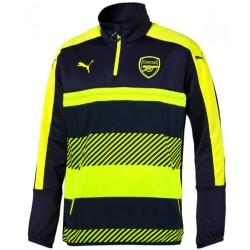 Tech sweat top d'entrainement Arsenal UCL 2016/17 bleu/fluo - Puma
