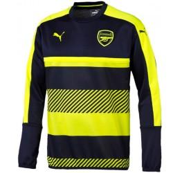 Sweat top d'entrainement Arsenal UCL 2016/17 bleu/fluo - Puma