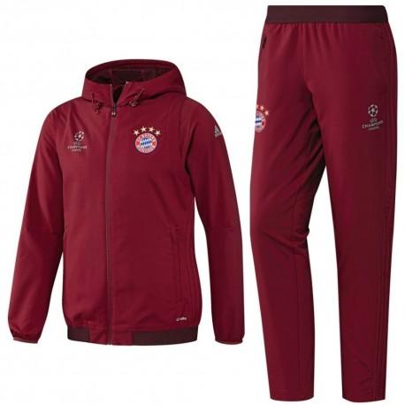 Bayern München Champions League Präsentationsanzug 201617 rot Adidas