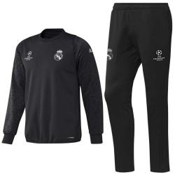 Survetement d'entrainement Real Madrid UCL 2016/17 noir - Adidas