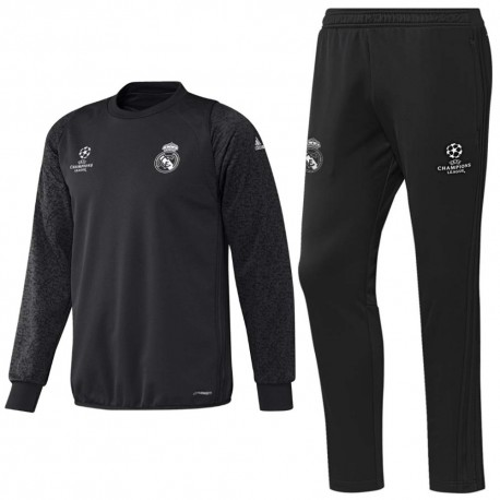 Real Madrid UCL sweat training tracksuit 2016/17 carbon - Adidas