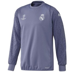 Sweat top d'entrainement Real Madrid UCL 2016/17 violet - Adidas