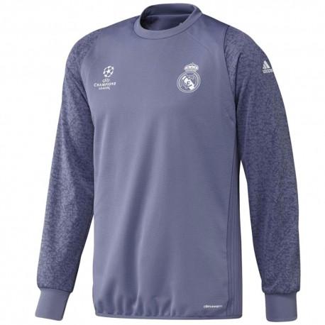 Real Madrid UCL training sweat top 2016/17 purple - Adidas