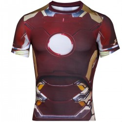 "Under Armour ""Transform Yourself"" Iron Man compression shirt"