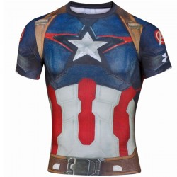 "Under Armour ""Alter Ego"" Captain America maillot tech compression"