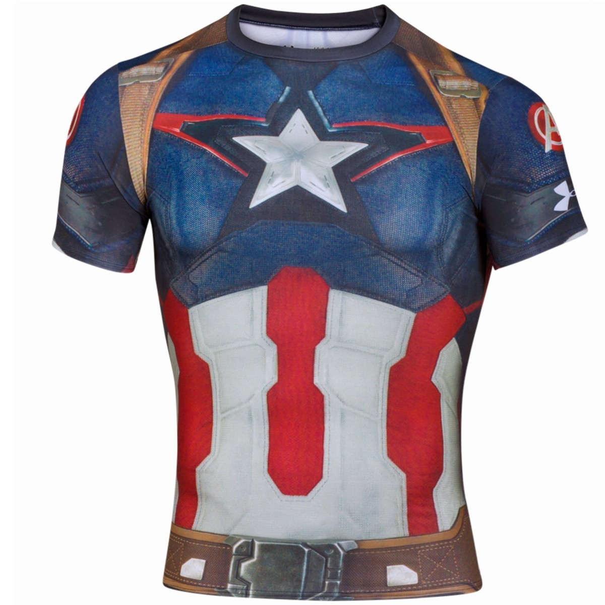 Under Armour Captain America Compression Shirt 1244399-402 2XL NWT Crossfit