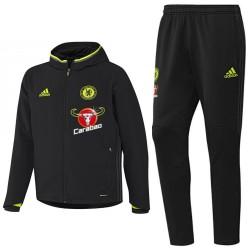 Tuta da rappresentanza nera Chelsea 2016/17 - Adidas
