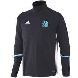Olympique Marseille Tech trainingssweat 2016/17 blau - Adidas