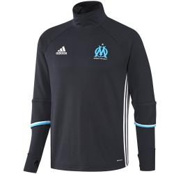 Tech sweat top d'entrainement Olympique Marseille 2016/17 bleu - Adidas