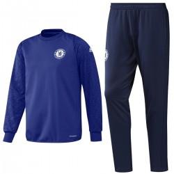Survetement sweat d'entrainement coupes Chelsea 2016/17 bleu - Adidas