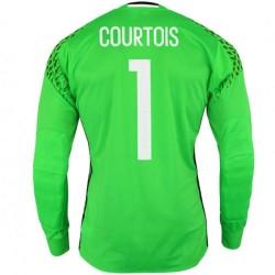 Belgien Fußball torwart heimtrikot 2016/17 Courtois 1 - Adidas