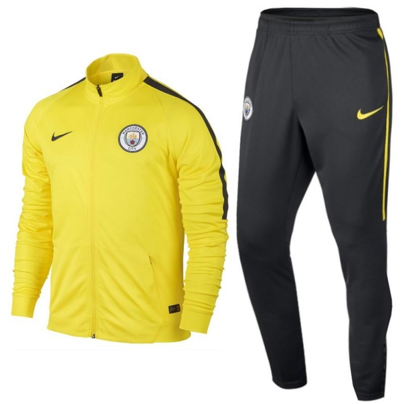Manchester City Yellow Presentation Tracksuit 2017 Nike