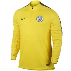 Felpa tecnica allenamento gialla Manchester City 2017 - Nike