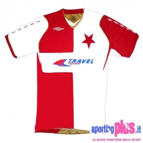 Maglia Slavia Praga Home 08/10 versione Uefa by Umbro