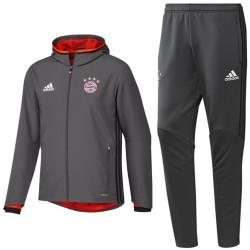 Bayern München training Präsentationsanzug 2017 grau - Adidas