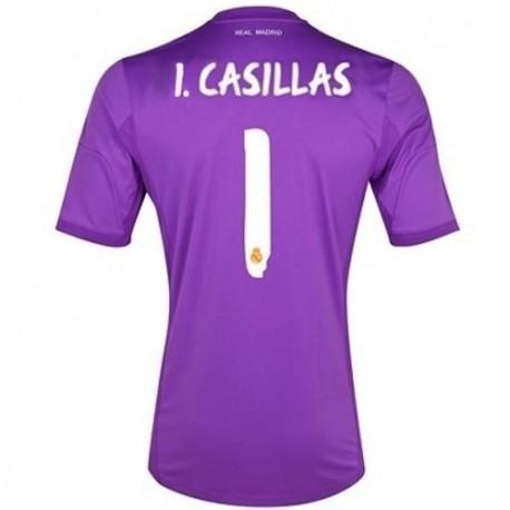 d6857c976 Real Madrid CF goalkeeper home shirt 2013 14 Iker Casillas 1 - Adidas