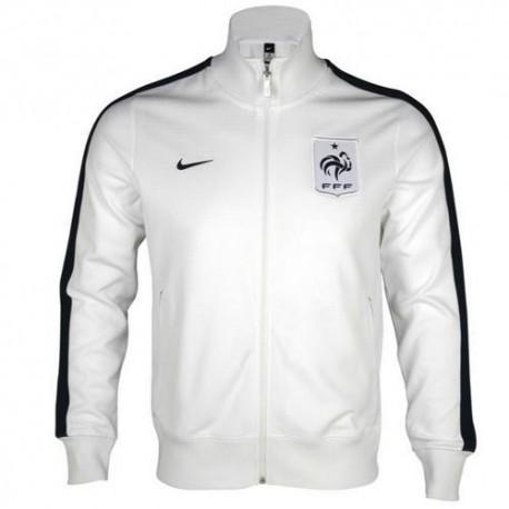 Nationale Vertretung N98 Jacke Nike Frankreich-weiss/blau