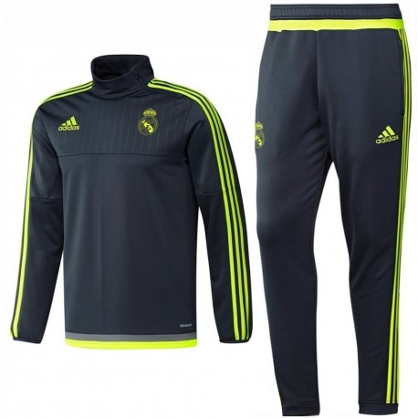 Survetement technique d'entrainement Real Madrid 2015/16 gris - Adidas