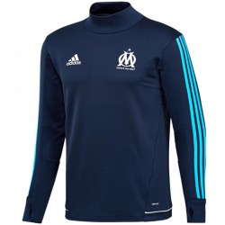 Tech sweat top d'entrainement Olympique Marseille 2017/18 navy - Adidas