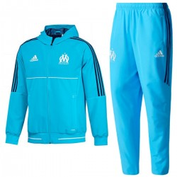 Survetement de presentation Olympique Marseille 2017/18 light blue - Adidas