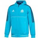 Olympique Marseille presentation tracksuit 2017/18 light blue - Adidas
