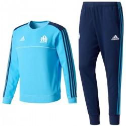 Survetement sweat d'entrainement Olympique Marseille 2017/18 - Adidas